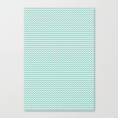 Chevron Mint Canvas Print