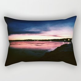Snowy Sunset Rectangular Pillow