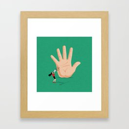 Talk To The Hand Framed Art Print