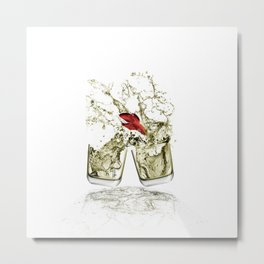 Partyfish Metal Print