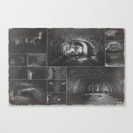 Underground factory collage Canvas Print