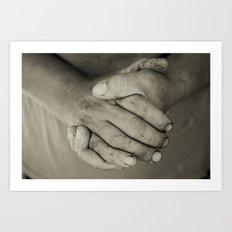 manos trabajadoras Art Print