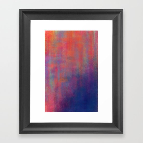 sunset pond Framed Art Print