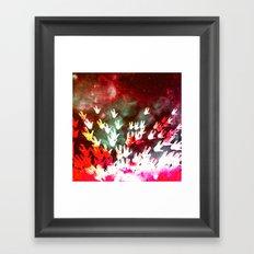 H.E.L.L.O. / red Framed Art Print