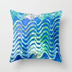 Rippling Waves Throw Pillow