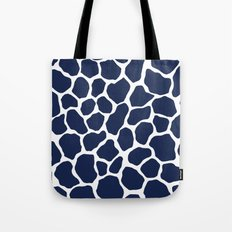 Giraffe Animal : Navy Tote Bag