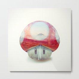 Mushroom - Kart Art Metal Print