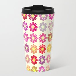 Multicolored floral pattern Travel Mug
