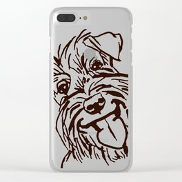 The happy Schnauzer dog love of my life! Clear iPhone Case