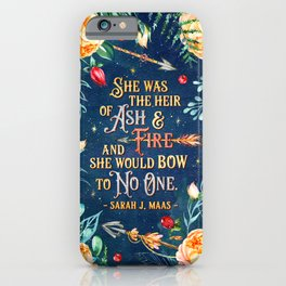 Ash & Fire iPhone Case
