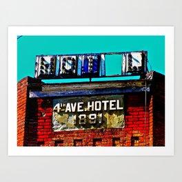 4th Avenue Hotel Art Print
