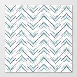 Sharp ZigZag Pattern Canvas Print