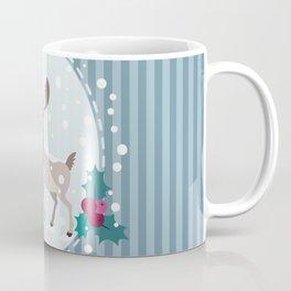 Merry Christmas - Moose and snow Coffee Mug