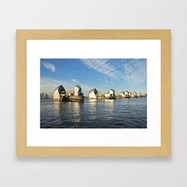 Thames Barrier Framed Art Print