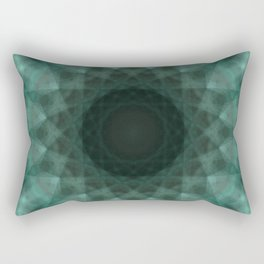 N-dimension projection # 2 (mandala) Rectangular Pillow