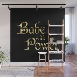 Labyrinth Babe With The Power (black bg) Wall Mural