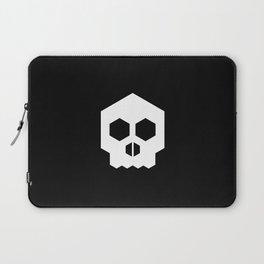 hex geometric halloween skull Laptop Sleeve