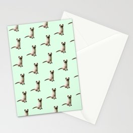 Geometric Siamese Kitten Stationery Cards