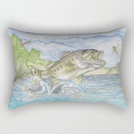Bass Jumping Rectangular Pillow