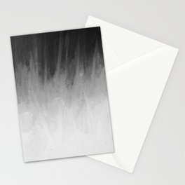 Ice Rays in a Black Sky Stationery Cards