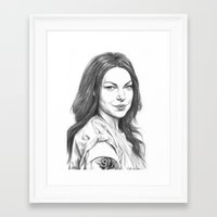 alex vause Framed Art Prints featuring Alex Vause by petitehoneybee