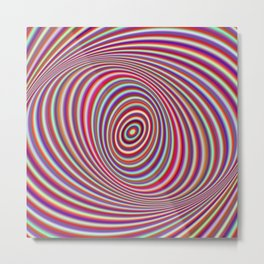 Neon hypnosis Metal Print