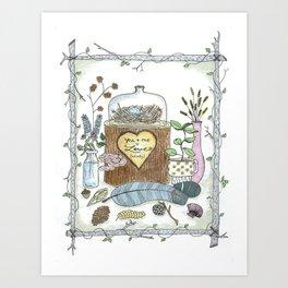 Love, Naturally Art Print