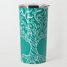 Tree of Life Teal Travel Mug