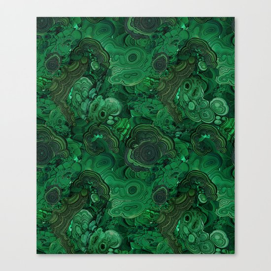 malachite Canvas Print