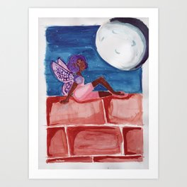 Fairy in the Moonlight Art Print