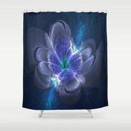 3D Blue Flower V1 Shower Curtain