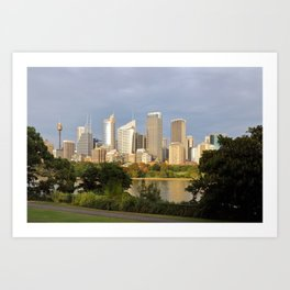Eastern Sydney Skyline Art Print