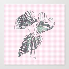 checkered leaf Canvas Print