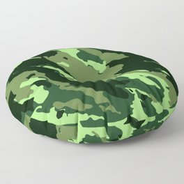 Green Camouflage Pattern Decoration Floor Pillow