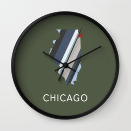 Chicago, Home Sweet Home Wall Clock