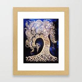 Henna Mehndi-Inspired Tree of Life Print Framed Art Print