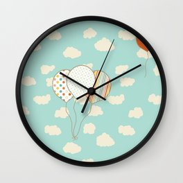 Balloons that Fly Wall Clock