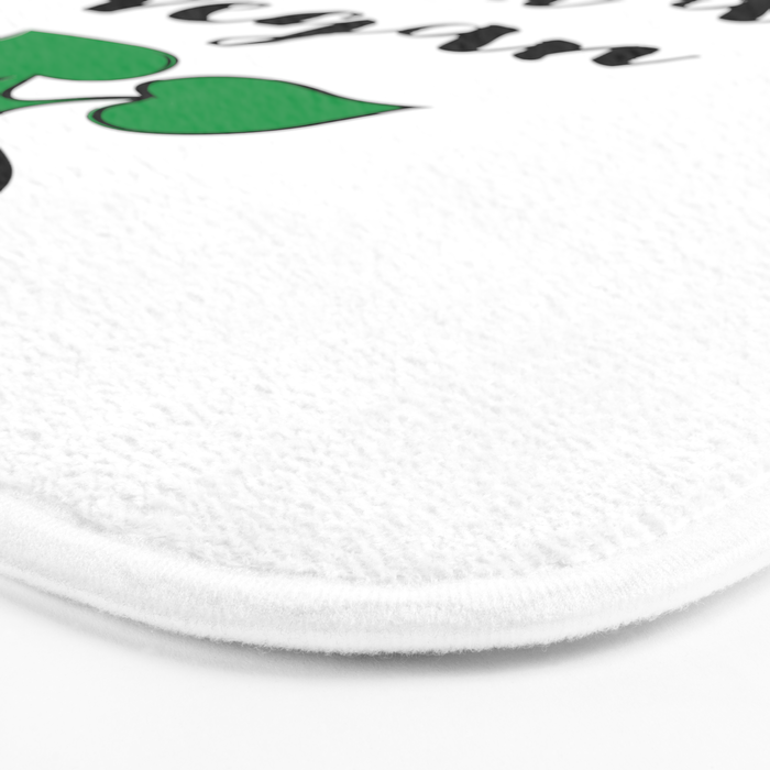You'll never have beef with a Vegan Quote Bath Mat