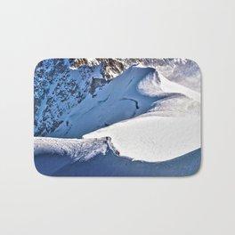 Mont Blanc, hikers, France. Bath Mat