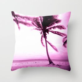 Stormy Palm Throw Pillow