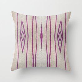 Carpet Purple Stripes Pattern Throw Pillow