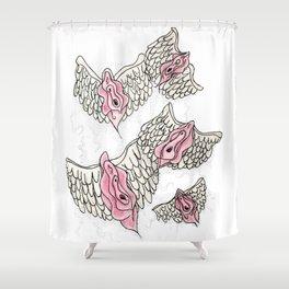 FLYING VULVAS Shower Curtain