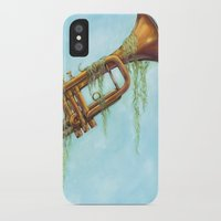 trumpet iPhone & iPod Cases featuring Trumpet by dangercat