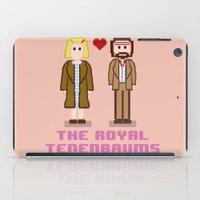tenenbaum iPad Cases featuring Margot and Richie Tenenbaum 8 bits by AlbaRicoque