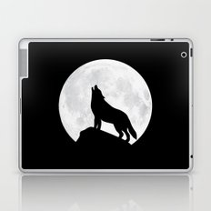 Howling Wolf - Moon Laptop & iPad Skin