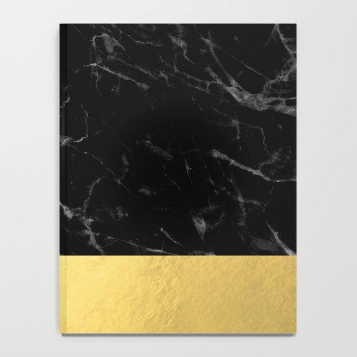 Black Marble & Gold Notebook