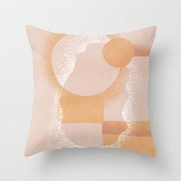 Warm tones contemporary boho Throw Pillow