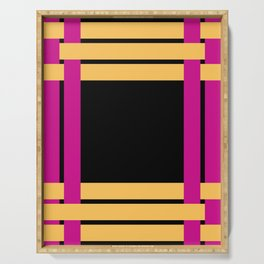 The intertwining pink and yellow ribbons Serving Tray