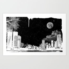 The city at night.. Art Print