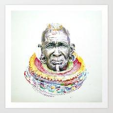 Maasai Art Print